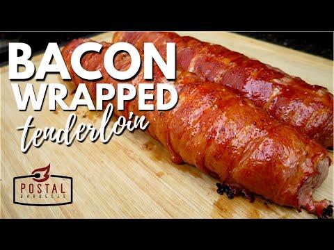 Bacon Wrapped Pork Tenderloin Recipe - How to Cook Bacon wrapped Tenderloin on the Grill Easy