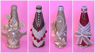 4 Jute Rope Bottle Decoration Ideas/ Jute Burlap Bottle Decoration Ideas