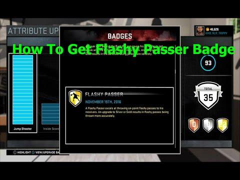 NBA 2k16 - How to Get Flashy Passer Badge (EASY)