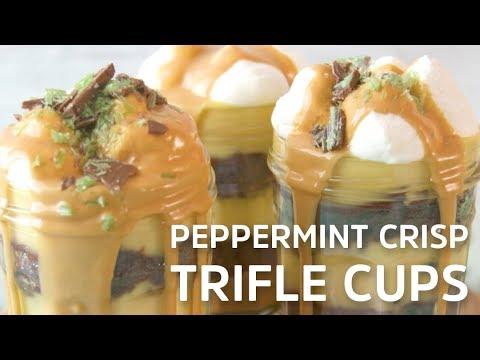 Peppermint Crisp Trifle Cups