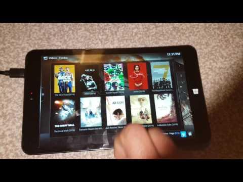 Watch movies on Windows tablet using kodi