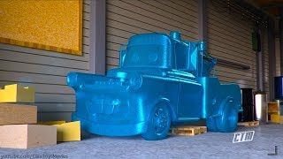 ICE Wheels Elsa Unfreezes FROZEN Mater | Cars Toys Movies Animation Short | Act of True Friendship