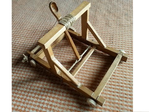 Small scale catapult (homemade)