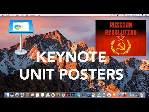 Apple Keynote Tutorial: How to Make Unit Posters