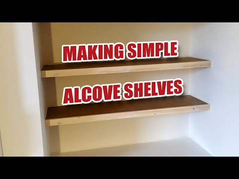 Making Some Simple Floating Alcove Shelves - Gosforth Handyman [23]