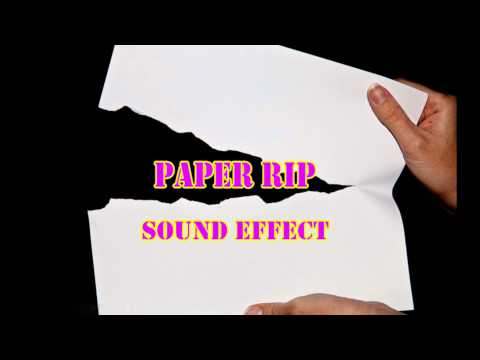 Paper Ripping  Sound Effects