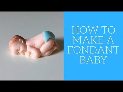 How to make a fondant baby