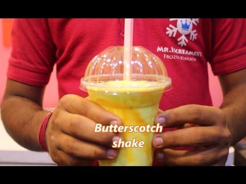 Butterscotch Milk Shake Recipe || Indian Drink Desert