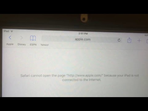 iPad has WiFi connection, but cannot connect to the internet.