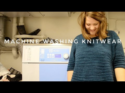 Can you machine wash a knitted sweater?