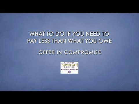 IRS Collection Alternatives:Offer In Compromise