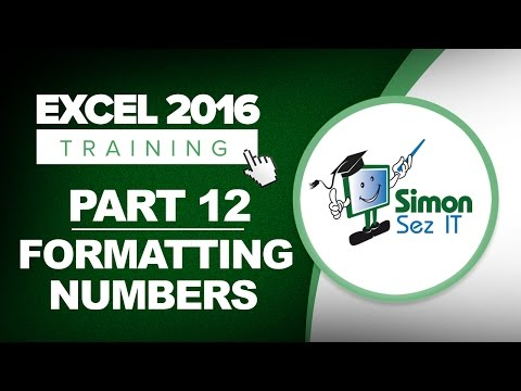 Excel 2016 for Beginners Part 12: How to Format Numbers in an Excel 2016 Spreadsheet