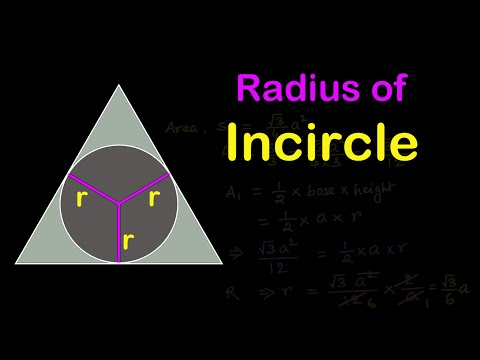 Find radius of INCIRCLE of an equilateral triangle circumscribing a circle |Mensuration in HINDI
