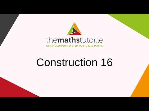 Construction 16 Circumcentre and Circumcircle Of A Triangle - Leaving Cert & Junior Cert Maths