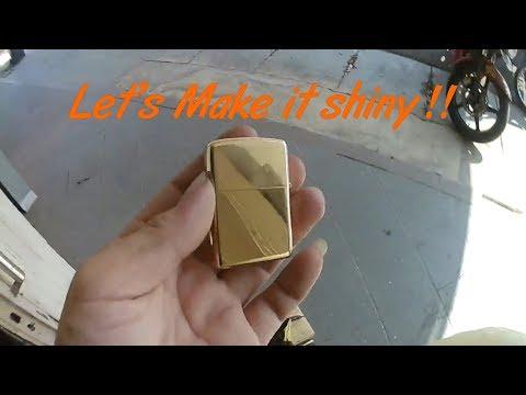How To Polish cheap fake zippo into shiny looks