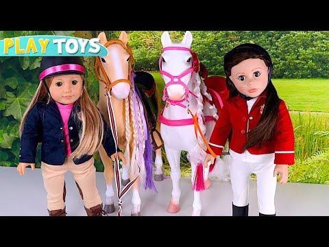 Baby Doll Hair Style Shop for Horses! Play American Girl Doll DYI Horse hair styling salon toys