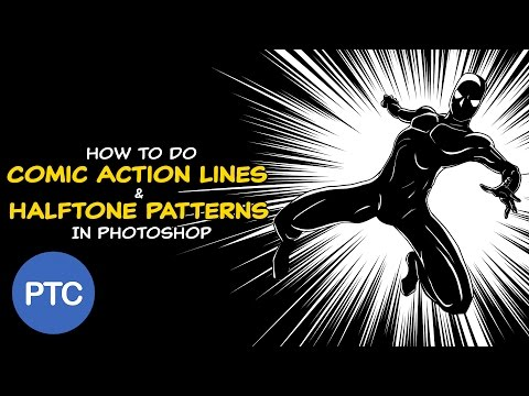 How To Create Comic Action Lines and Halftone Patterns in Photoshop Using Comic Kit