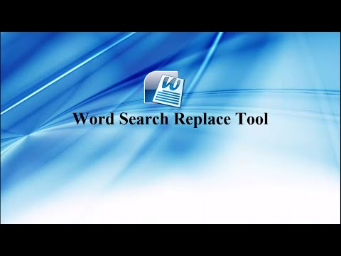 How to find and replace multiple words in multiple ms word files | word find and Replace  |
