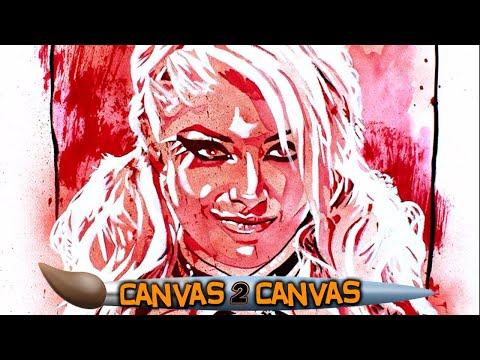 Alexa Bliss is five feet of fury! - WWE Canvas 2 Canvas