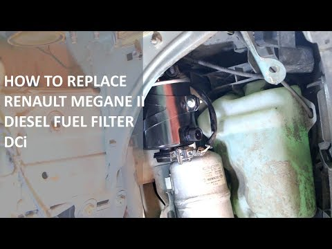 How to replace Renault Megane II dci fuel filter