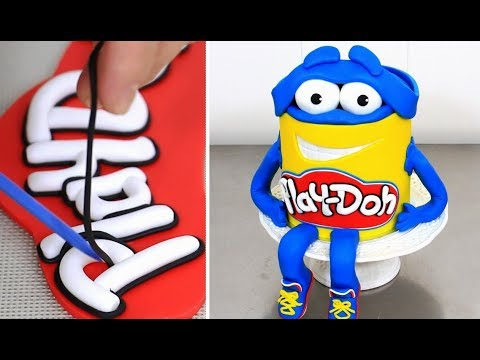 How to make a Funny PLAY-DOH Character Cake by Cakes StepbyStep