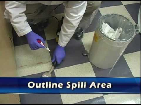 Cleaning Up a Spill (Radiation Safety for Material Users)