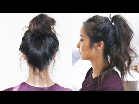 How to: Wavy Ponytail + Messy Bun | C&C