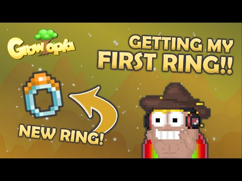 Growtopia | GETTING MY FIRST RING! HYPE!