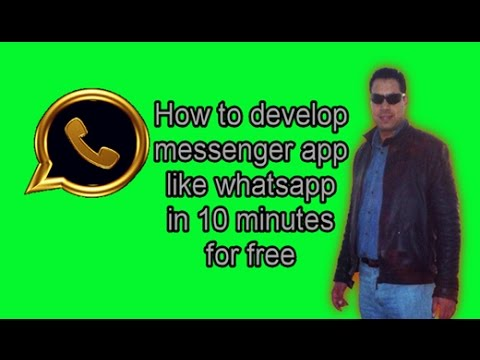 How to develop messenger app like whatsapp in 10 minutes for free