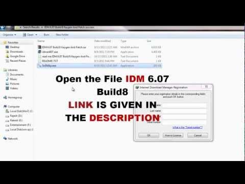 IDM 6.07 Build8 - Fake Serial Number Crashing - Keygen + Patch