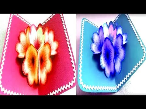 DIY Christmas / Valentine day gift | How to make DIY 3D flower POP UP card | Valentino rossi