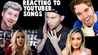 REACTING TO YOUTUBER SONGS
