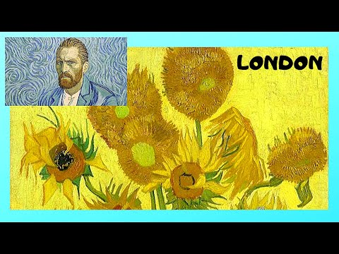 LONDON, The National Gallery and the priceless paintings of VINCENT VAN GOGH