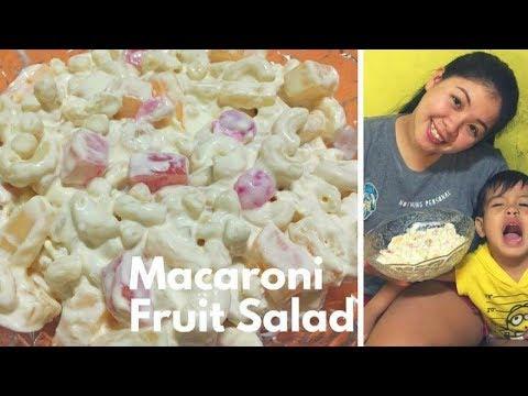 How to make Macaroni Fruit Salad (Filipino Version)