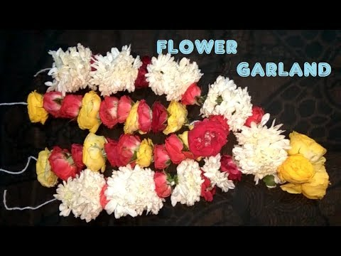 Easy Garland Making with Fresh Flower