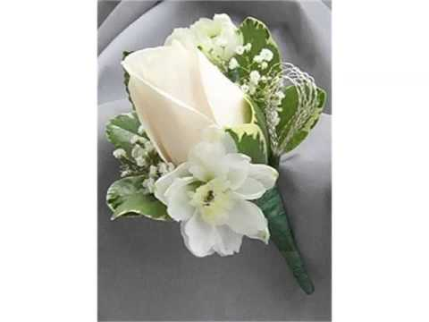Ideas Of Boutonniere White Rose Collection Romance