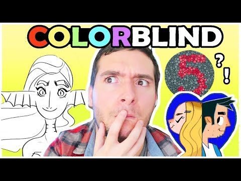 COLORBLIND ARTIST - Taking a Color blind Test & Art Challenge!!