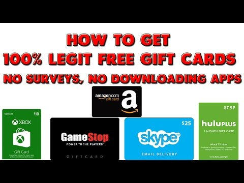 How to Get Free Gift Cards|Xbox, Amazon, Gamestop, Hulu, Skype| (Without downloading apps)
