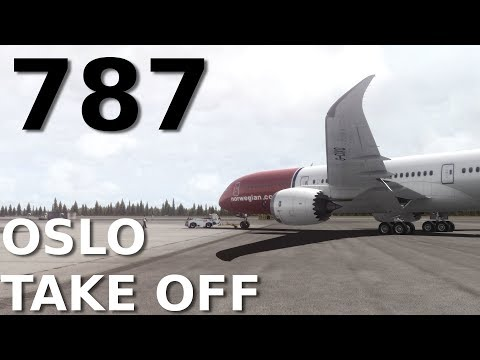 FSX] QualityWings 787-9 || TAKE OFF at OSLO AIRPORT || + CLOUD SHADOWS!!