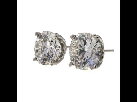 Diamond Stud Earrings GIA Certified