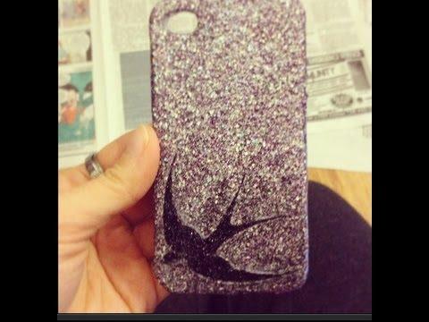 DIY : Glitter Phone Case!
