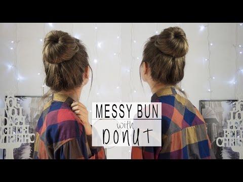 Messy bun with Donut | Bun for beginners