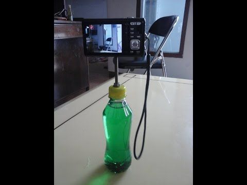 How to make digital camera stand or tripod from bottle