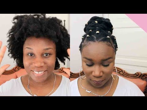 EASY 4C HAIRSTYLE | Twists and Rubber Bands | LAYEFA