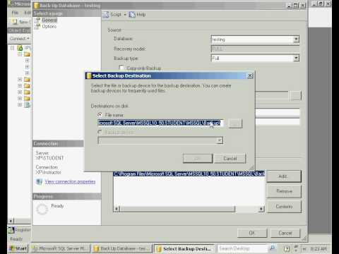 SQL Server 2008 - Database Backup