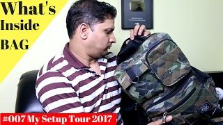 #007 Sharmaji Non-Tech | Whats In my Smart Backpack | My Unboxing Setup | Temp Studio Setup | HARP