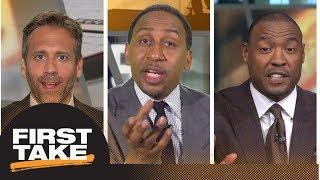 Stephen A., Darren Woodson roast Max for his Tom Brady prediction | First Take | ESPN