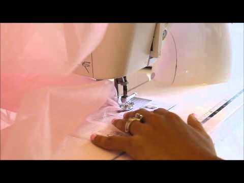 How to gather tulle easily using a gathering foot