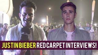 Justin Bieber Exclusive Red Carpet Interviews!   Purpose Tour