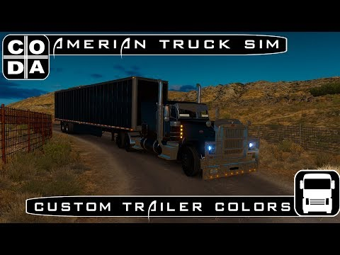 American Truck Simulator Multiplayer | Edit your trailer color!